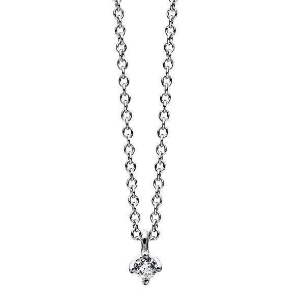 DiamondGroup Diamantcollier Collier 4er-Krappe 14 kt Weißgold - 4C770W4-2
