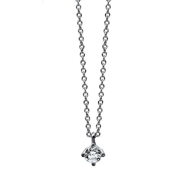DiamondGroup Diamantcollier Collier 4er-Krappe 14 kt Weißgold - 4C773W4-2