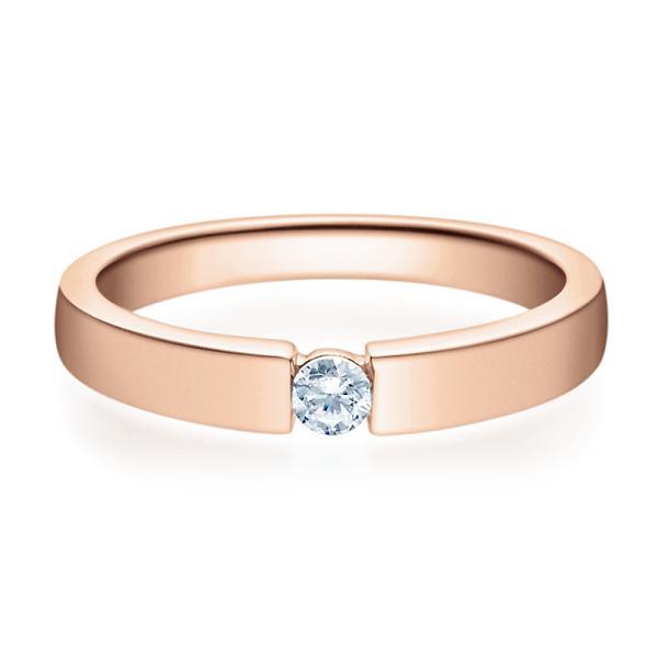 Rubin Verlobungsring 18012 Rotgold Solitär Ring