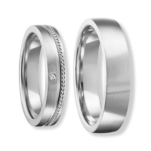 Freundschaftsringe Silber 925 Zirkonia Bedra 90061