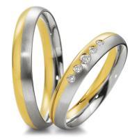 Breuning Trauringe 48/04043 & 48/04044 Gelbgold & Weißgold