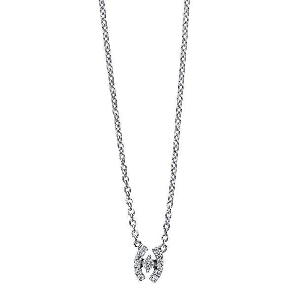 DiamondGroup Diamantcollier Collier 18 kt Weißgold - 4E604W8-1