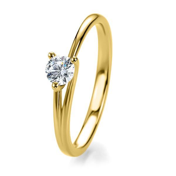Breuning Bridal Antragsring Gelbgold 41/53040