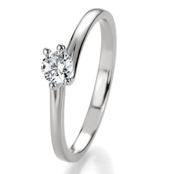 Breuning Bridal Antragsring Silber 925 Zirkonia 41/05308
