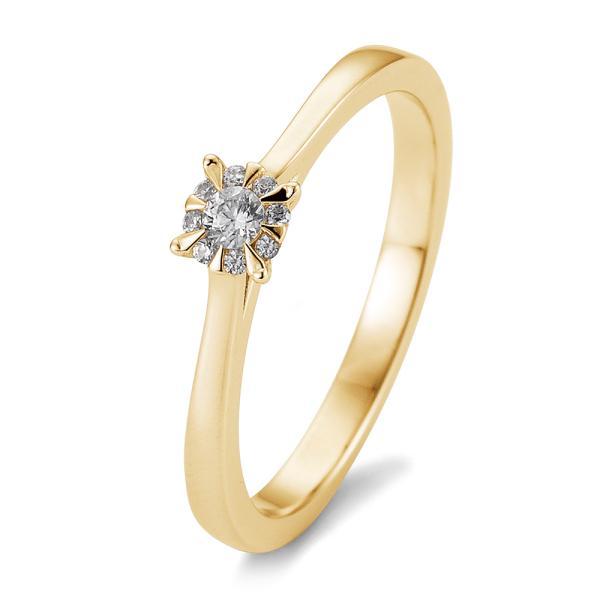 Breuning Solitär Ring Gelbgold 585 - 0,104 ct - 05763