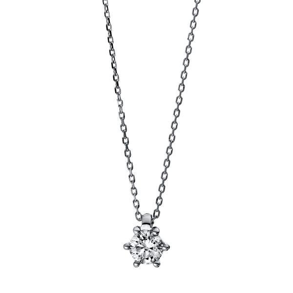 DiamondGroup Diamantcollier Collier 6er-Krappe 14 kt Weißgold - 4D280W4-6