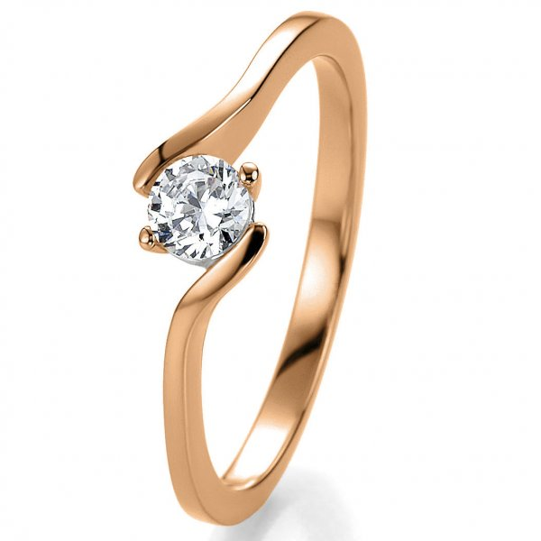 Antragsring Rotgold mit Brillant 0,30 ct 41/52980