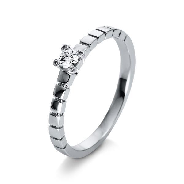 DiamondGroup Ring 4er-Krappe 18 kt Weißgold - 1Q386W855-2