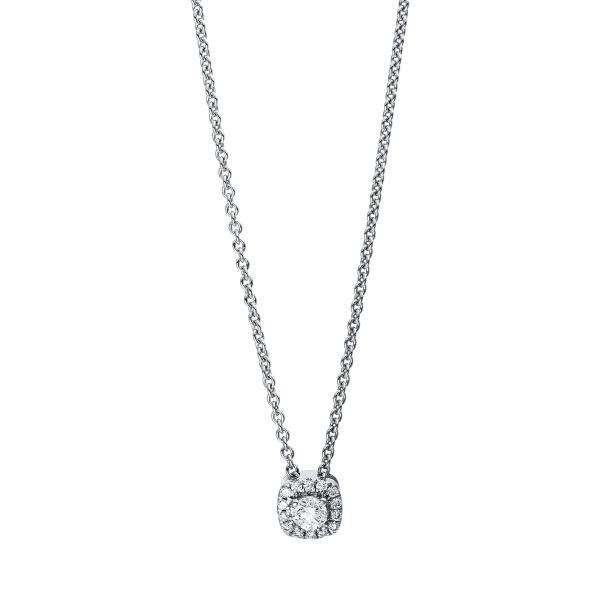 DiamondGroup Diamantcollier Collier 18 kt Weißgold - 4E530W8-1