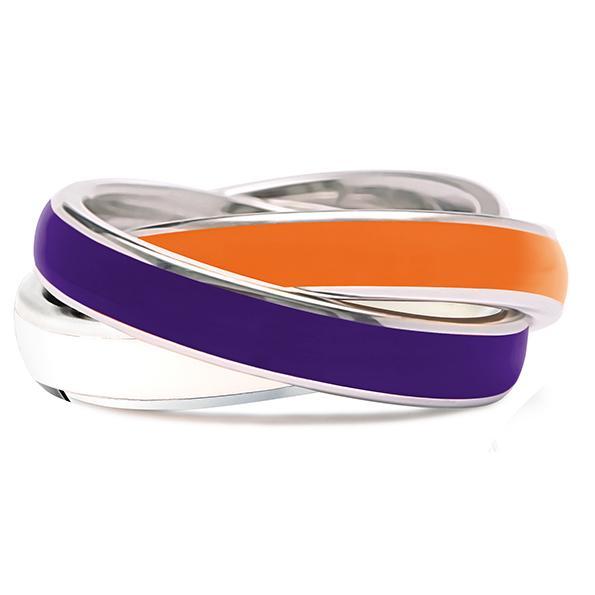 Quinn 3-in-1 Ring, lila-orange-weiß