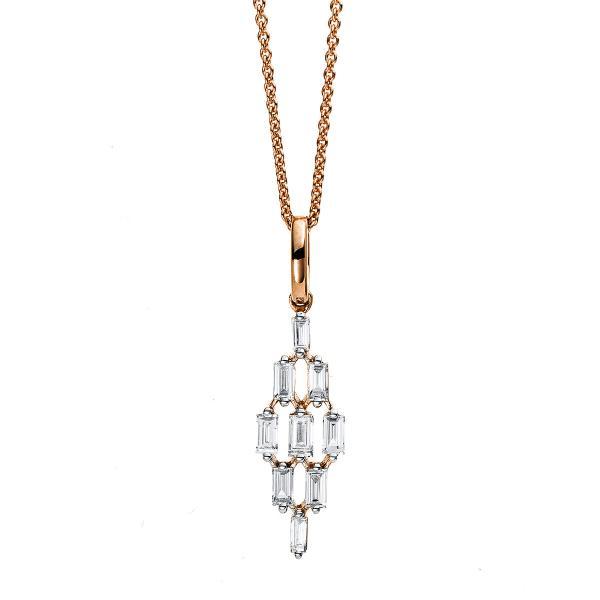 DiamondGroup Diamantcollier Collier 18 kt Rotgold - 4C376R8-1