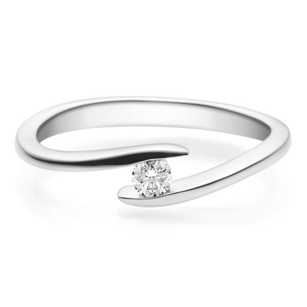 Rubin Verlobungsring 18015 Silber 925 Solitär Ring 0.100 ct.