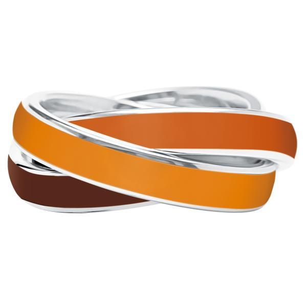Quinn 3-in-1 Ring, Apricot-Papaya-Brown