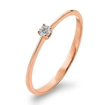 Palido First Love Ring Rotgold 585 Brillant Solitär K11019R