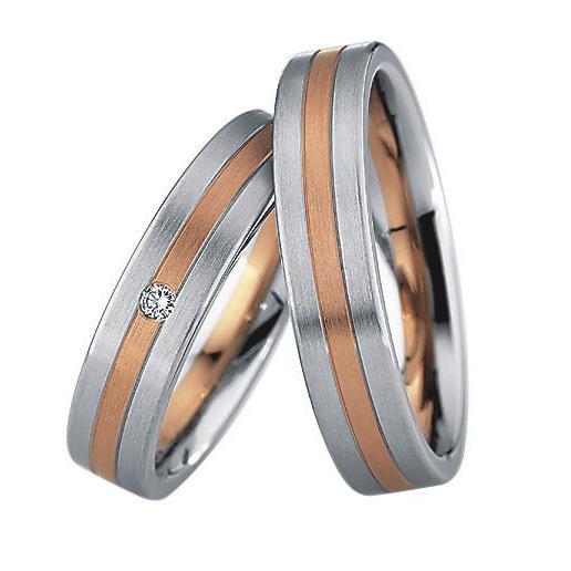 Saint Maurice Stahl-Gold-Ringe 88224 88225