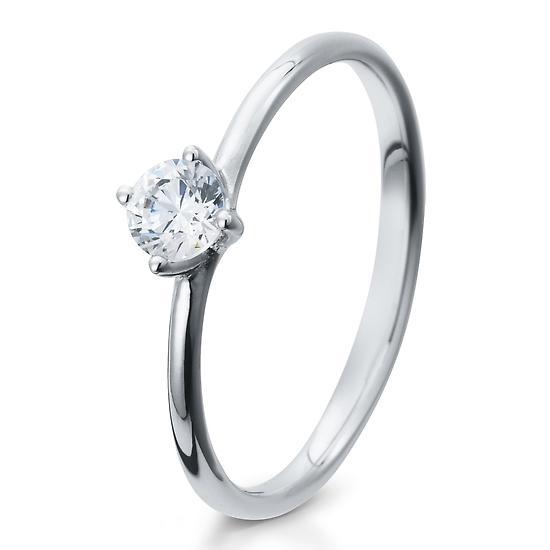 Verlobungsring Silber 925 Zirkonia Breuning 41/05280