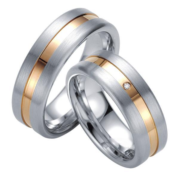 Breuning Silberringe Verlobungsringe mit Platin. 08027 08028