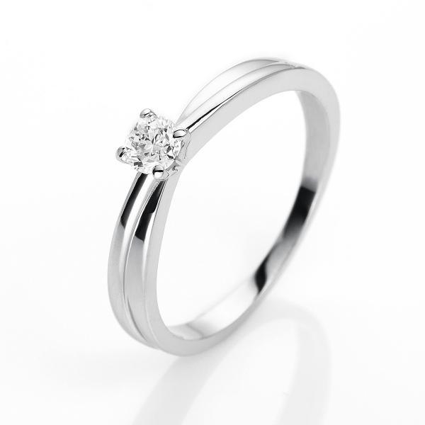 DiamondGroup Ring 4er-Krappe 14 kt Weißgold - 1H235W453-1