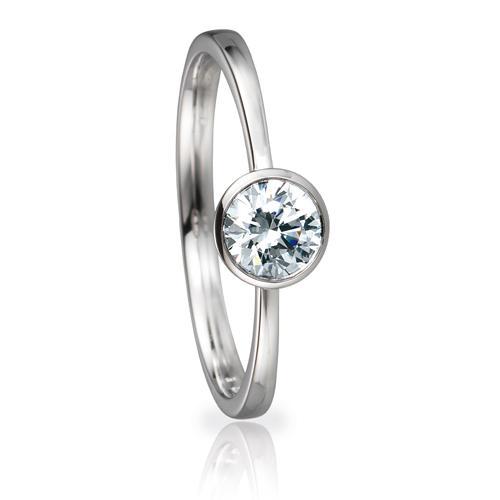 Solitaire Ring 82150 Brillant 0,50 ct Weißgold