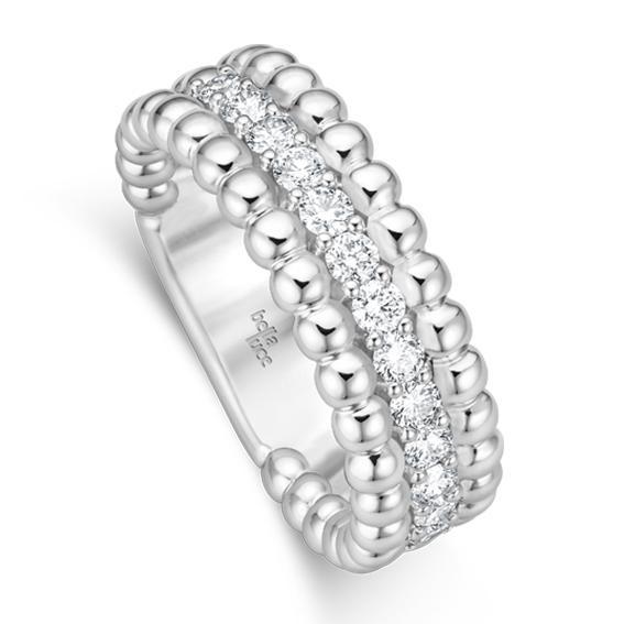 bella luce Kügelchen Ring Pallina II Weißgold EH4445