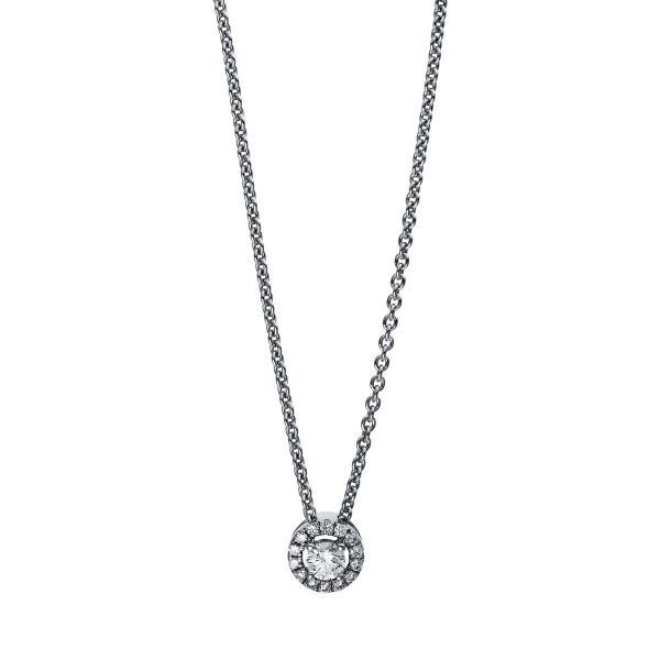 DiamondGroup Diamantcollier Collier 18 kt Weißgold - 4E528W8-1