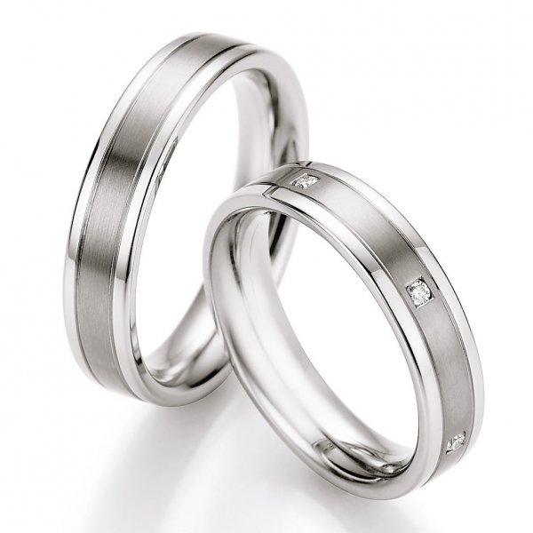 Ruesch Ringe Verlobungsringe Titan Stahl TS607B TS607