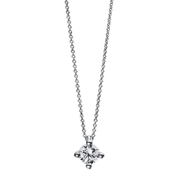 DiamondGroup Diamantcollier Collier 4er-Krappe 18 kt Weißgold - 4D271W8-1