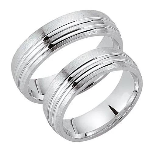 Schwarz Trauringe / Partnerringe Silber 925 SW925-021 Sterlingsilber feinmatt