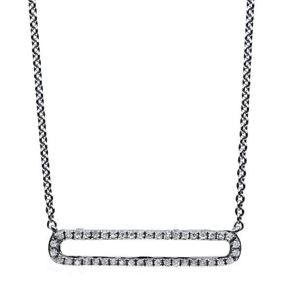 DiamondGroup Diamantcollier Collier 14 kt Weißgold - 4B028W4-2