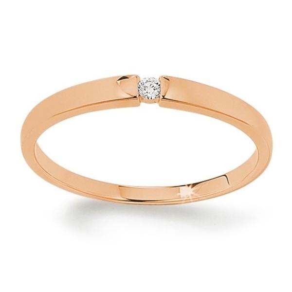 First Love Solitär Ring Rotgold 585 Palido K10483R