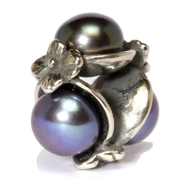 Trollbeads 51733 Dreifach Perle, schwarz