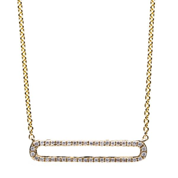 DiamondGroup Diamantcollier Collier 14 kt Gelbgold - 4B028G4-1