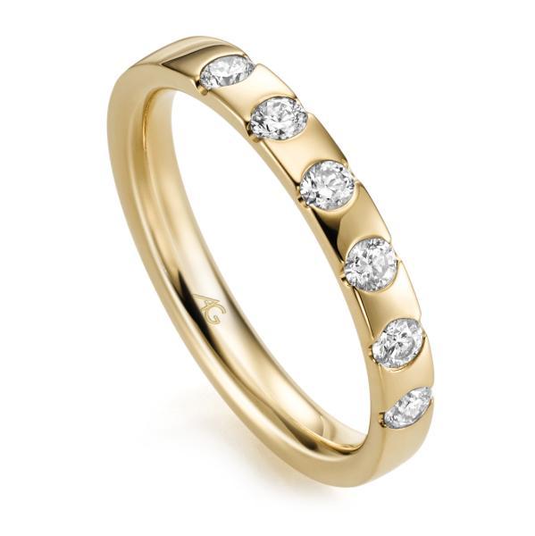 Memoire Ring Gelbgold 585 Brillant Gerstner 29761/3.1