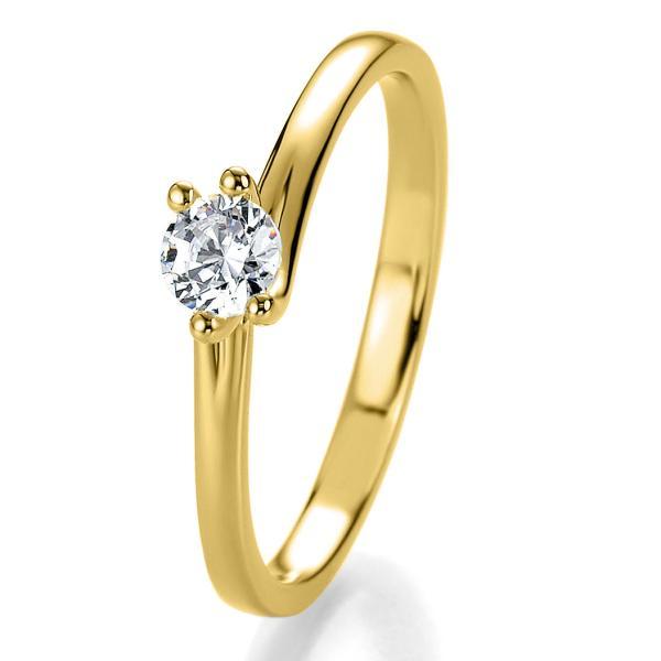 Antragsring Gelbgold mit Brillant 0,10 ct 41/53080