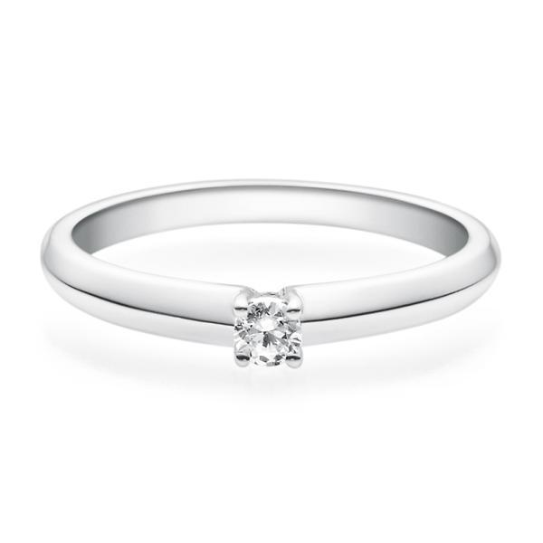 Rubin Verlobungsring Silber Solitär Ring 18004