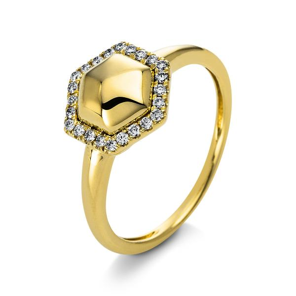 DiamondGroup Ring 14 kt Gelbgold - 1Q815G454-1