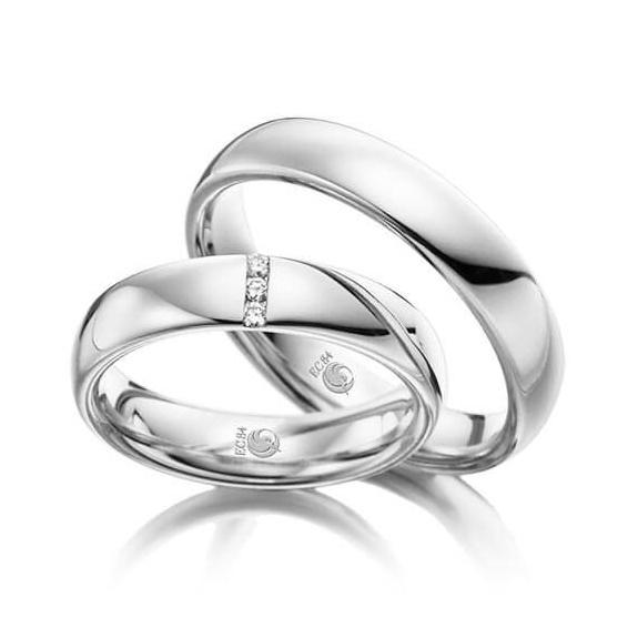 Rubin Eheringe 1029 Silber 925