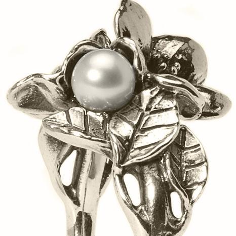 Trollbeads Ring Weißdorn mit Perle TAGRI-00222, R5102