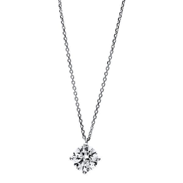 DiamondGroup Diamantcollier Collier 4er-Krappe 18 kt Weißgold, GIA5192655370 - 4D008W8-1