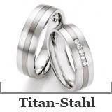 Freundschaftsringe Titan-Stahl