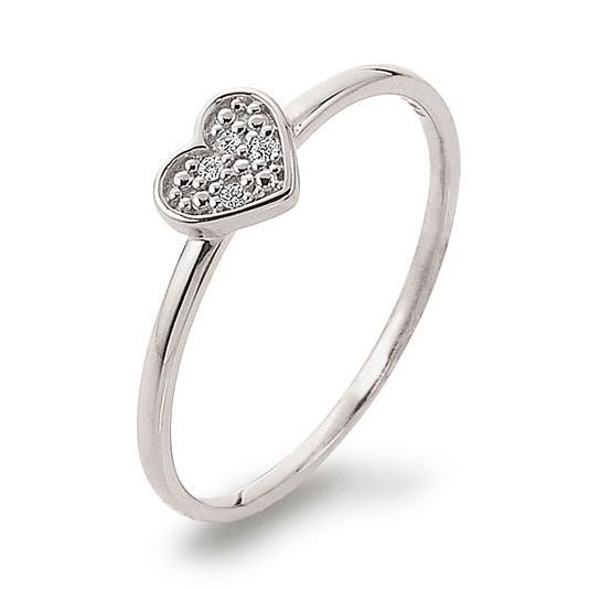 Ring mit Herz Weißgold 585 Brillant K11238W Herzring Herzchen