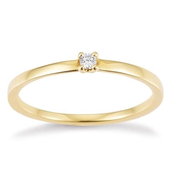 Solitär Ring Gelbgold 585 Brillant Palido F1332 Krappenfassung