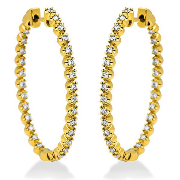 DiamondGroup Creolen aus 18 kt Gelbgold 2I192G8-2