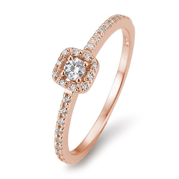 Fantasy Pavé Eckig Diamantring Rotgold 585 Breuning 41/05802