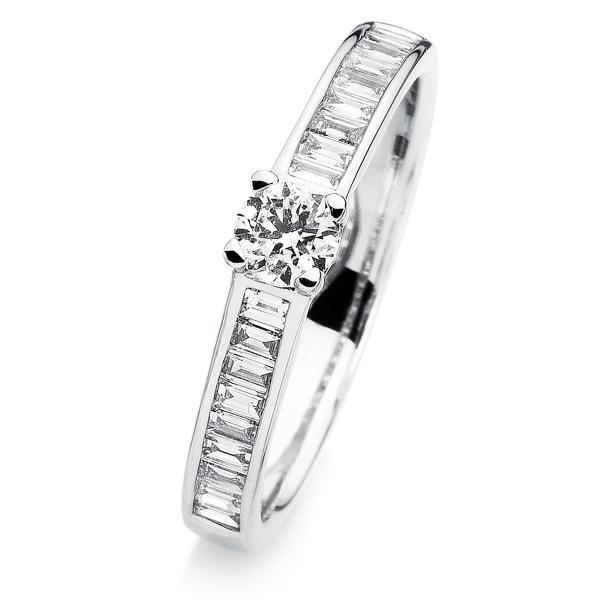 DiamondGroup Ring 4er-Krappe 14 kt Weißgold - 1A282W454-1