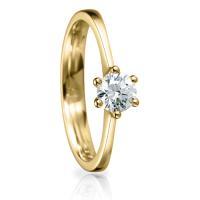 Solitaire Ring 82140 Brillant 0,50 ct Gelbgold