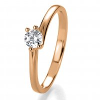 Antragsring Rotgold mit Brillant 0,10 ct 41/53080