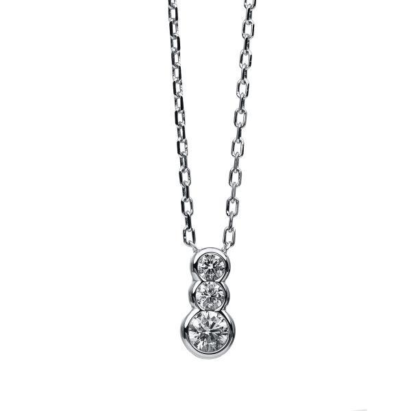DiamondGroup Diamantcollier Collier Zarge 14 kt Weißgold - 4B846W4-1