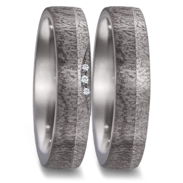 TeNo Partnerringe Tantal Carbon Brillant - 52590