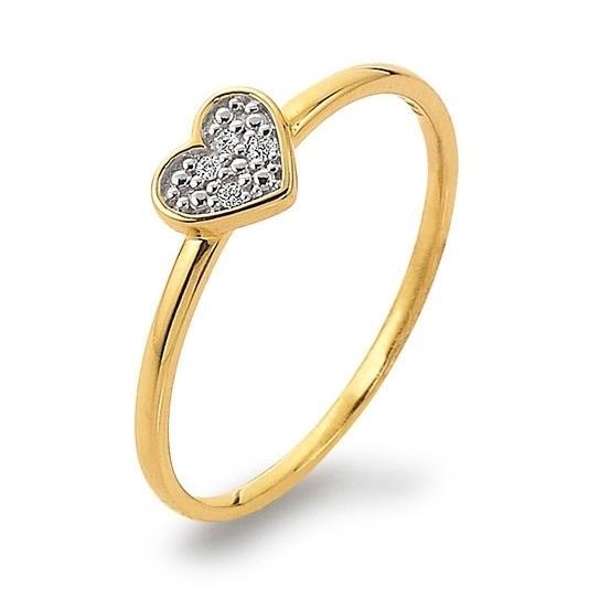Ring mit Herz Gelbgold 585 Brillant Palido K11238G Herzring Herzchen